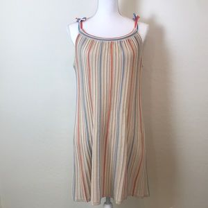 Ribbed Strapless Midi Dress with Pops of Color